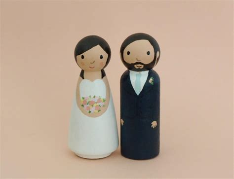 wedding cake topper with personalized custom wedding cake topper and groom figurines