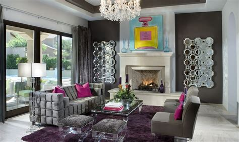 Purple Living Room For Vibrant Living Space