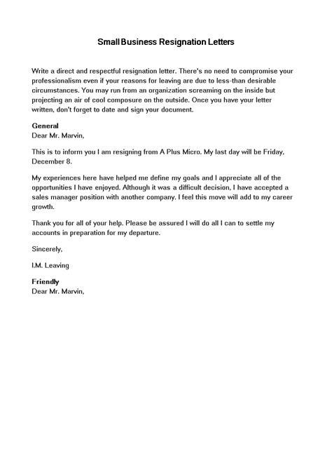 Resignation Letter Due To Career Growth - Sample Resignation Letter