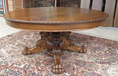 vintage claw foot table hastings antique oak dining table with lion and claw feet