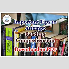 Important Tips To Attempt Reading Comprehension Questions  Download In Pdf