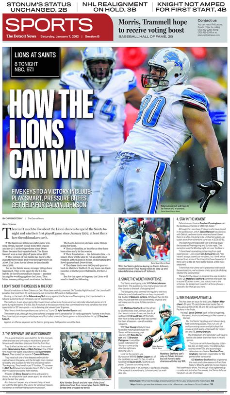 News Sports by A Look At Saturday S Nfl Playoff Preview Pages Charles Apple