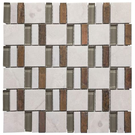 jeffrey court silver screen mosaic tile jeffrey court silver strips 11 75 in x 11 75 in x 8 mm