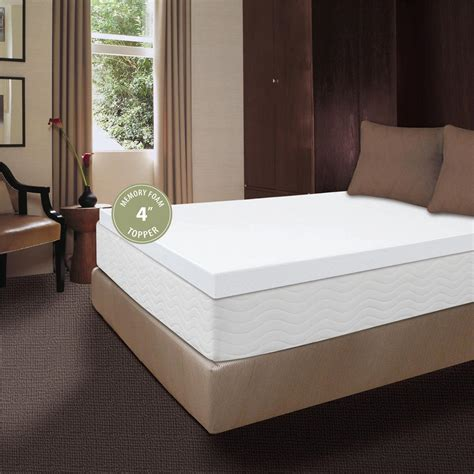 4 inch mattress topper visco 174 4 quot memory foam mattress topper 227171 mattress