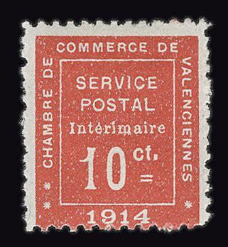 chambre de commerce valenciennes guerre timbre philatélie