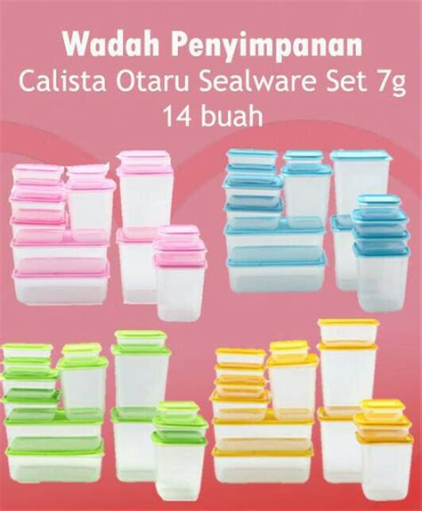 Calista Otaru Sealware jual calista otaru sealware original set 14 pcs wadah