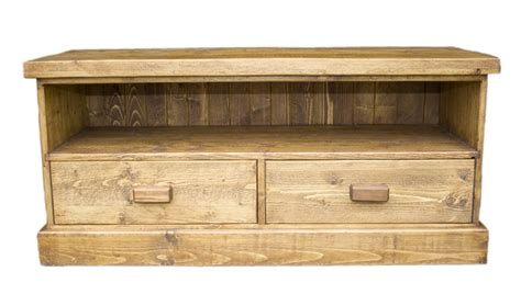 pine television solid wood interiors gt pine tv unit rustic 2 drawers