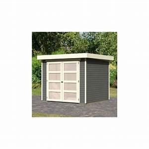 Abri De Jardin 5m2 : abri de jardin toit plat 5 25m bois gris 19mm m hlendorf ~ Edinachiropracticcenter.com Idées de Décoration