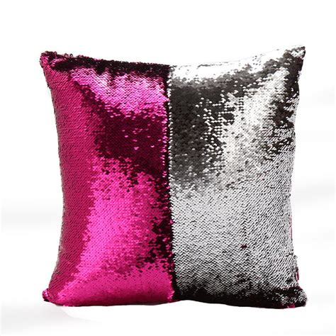 sparkle throw pillows 16 quot mermaid throw pillow cover home decor sequins