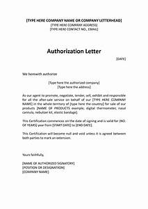 Authorization Distributor Letter - sample distributor ...