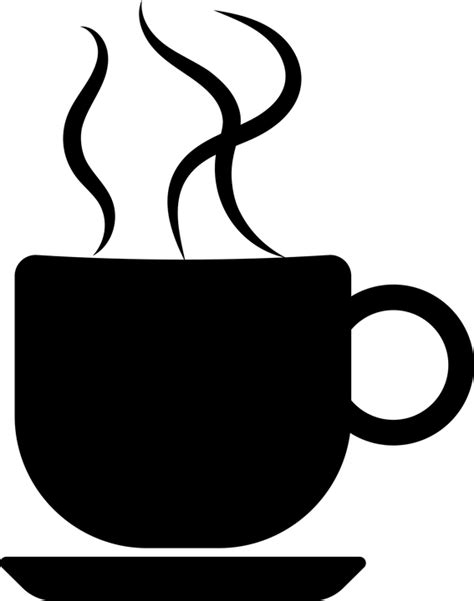 free vector graphic coffee cup silhouette steam hot