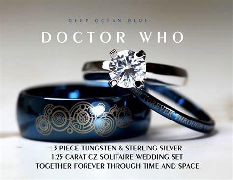 doctor who together forever wedding ring set