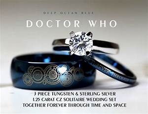 Doctor who 39together forever39 wedding ring set for Doctor who wedding ring set