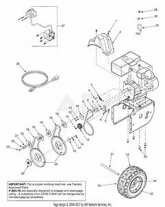 Mtd 31ad5l3f190 Snow Boss 850w  2001  Parts Diagram For Engine  U0026 Belts