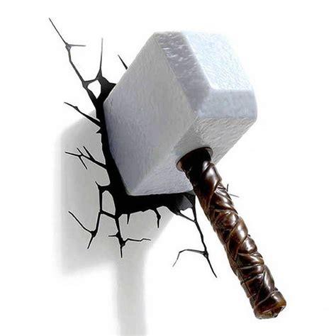 thor thor hammer 3d wall light