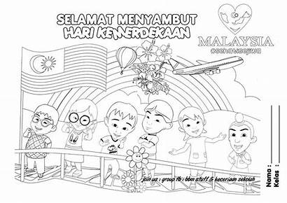 Coloring Pages Merdeka Malaysia