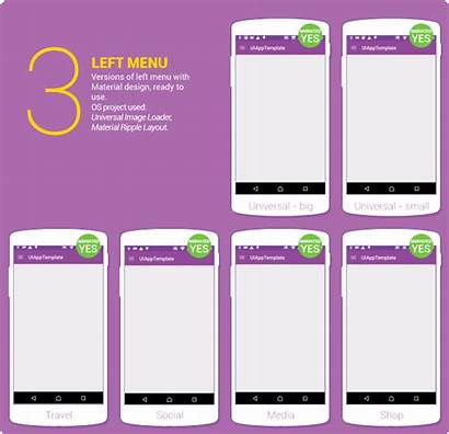 Android App Ui Template Material Application Mobile