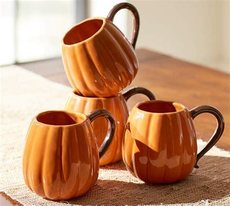 pumpkin mug set   pottery barn