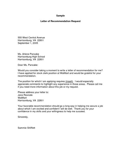 Sle Letter Requesting A Letter Of Recommendation by How To Write A Letter Of Request Template 9 Request For