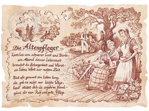 zunftbild altenpfleger auf antikpapier im  format