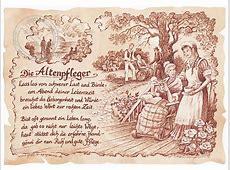 Zunftbild Altenpfleger auf Antikpapier im A4Format