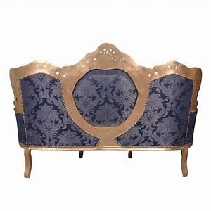Canapé Baroque Pas Cher : canap baroque bleu et or meuble baroque ~ Teatrodelosmanantiales.com Idées de Décoration