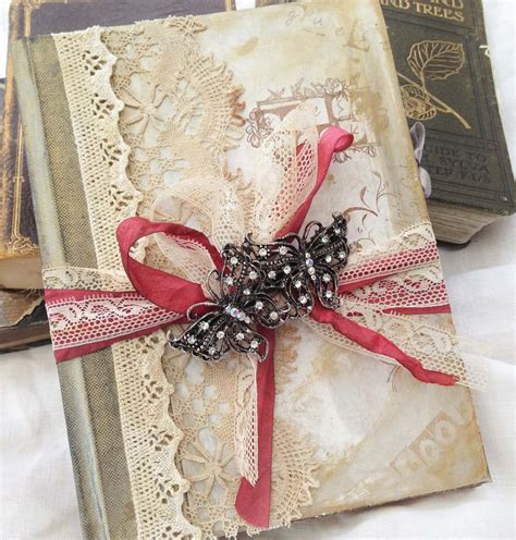 shabby chic wedding guest book ideas vintage wedding guest book vintage shabby chic custom on luulla