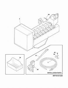 Ice Maker Diagram  U0026 Parts List For Model 25370622410 Kenmore
