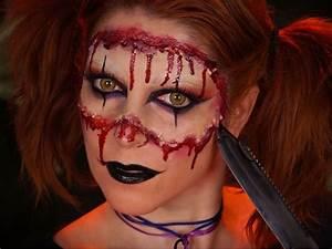 Déguisement Halloween Qui Fait Peur : maquillage halloween harley quinn version horrifique sublime travail d 39 alicia de face to face ~ Dallasstarsshop.com Idées de Décoration