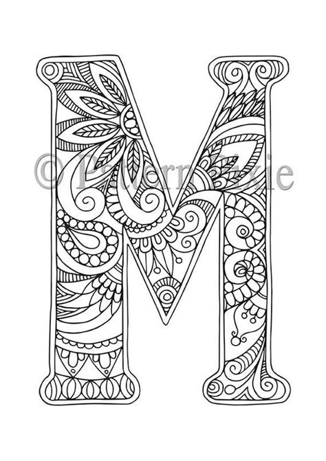 adult colouring page alphabet letter  curiosidades mandalas imprimir abecedario