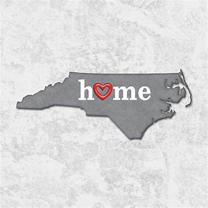 State Map Outline North Carolina With Heart In Home ...