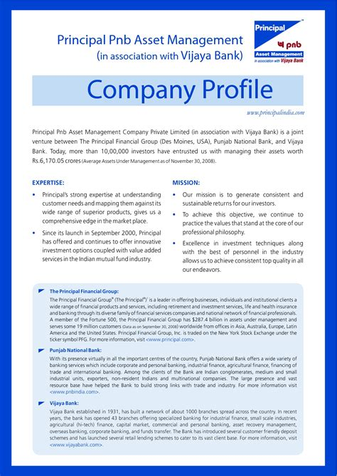 sle format of company profile in word microsoft word