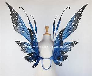 The Elizabeth fairy wings in blues and black by On ...