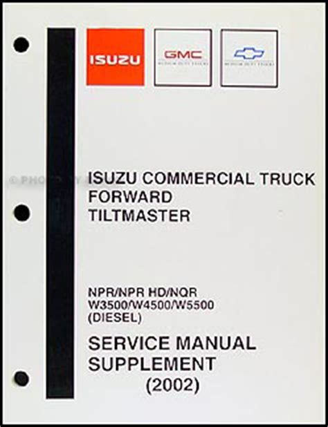 2002 Gmc W5500 Wiring Diagram by 1999 2004 Diesel Engine 4he1 Tc Repair Shop Manual Isuzu