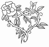 Coloring Roses Printable Adults sketch template