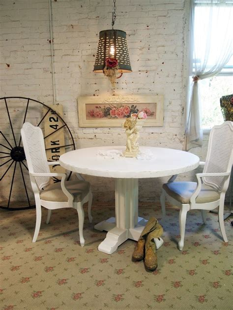shabby chic breakfast table dining table white shabby chic dining table