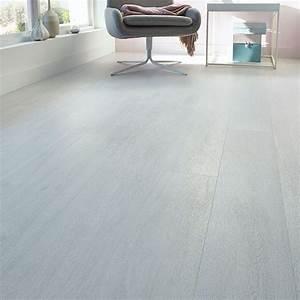 Pose Revetement Sol Pvc Lames : lame pvc clipsable kitano blanc 122 x 18 cm vendue au carton casa tile floor decor et ~ Voncanada.com Idées de Décoration
