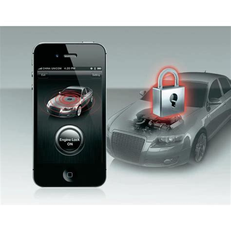 Système D'alarme Auto Connectée Smart Engine Lock For