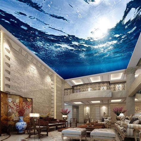 custom size mural wallpaper underwater world ceiling mural