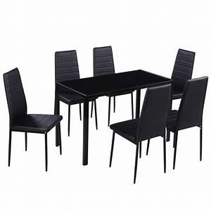 Acheter Ensemble De Salle Manger 6 Chaises1 Table Noir