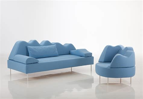 Contemporary Couches by Blue Color Tone Home Sofa Set Iroonie