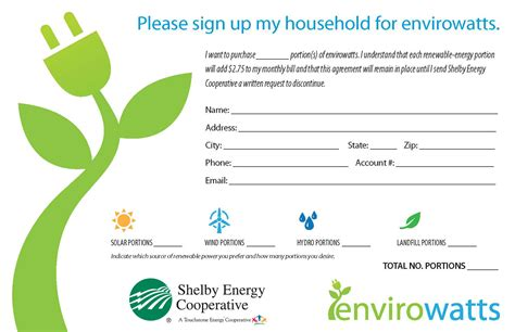 envirowatts pledge form shelby energy cooperative