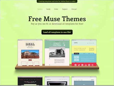 Free Adobe Muse Templates Responsive Adobe Muse Templates Themes Free