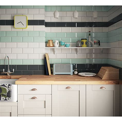 wickes metro mint green ceramic tile   mm wickes