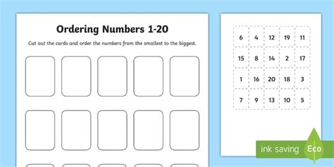 Ordering Numbers Game 1 To 20  Cfe, Scotland, Mathematics, Numeracy, Early