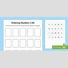 Ordering Numbers Game 1 To 20  Cfe, Scotland, Mathematics