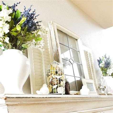 Window Mantle by Real Home And Easter Mantel Decorating Ideas