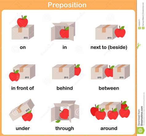 preposition  motion  preschool worksheet
