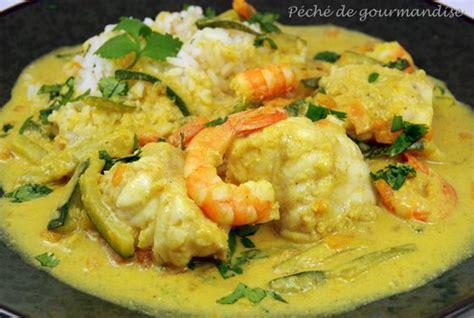 cuisiner la lotte au curry curry de lotte au lait de coco