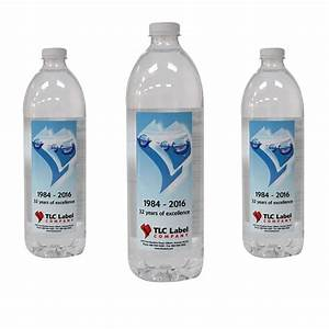 water bottle label printing tlc label With clear water bottle labels